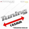 EMBLEME TUNING 3D CARROSSERIE AUTO ADHESIF CHROME PLASTIQUE ABS HAUTE RESISTANCE