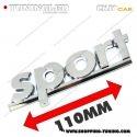 EMBLEME SPORT 3D CARROSSERIE AUTO ADHESIF CHROME PLASTIQUE ABS HAUTE RESISTANCE