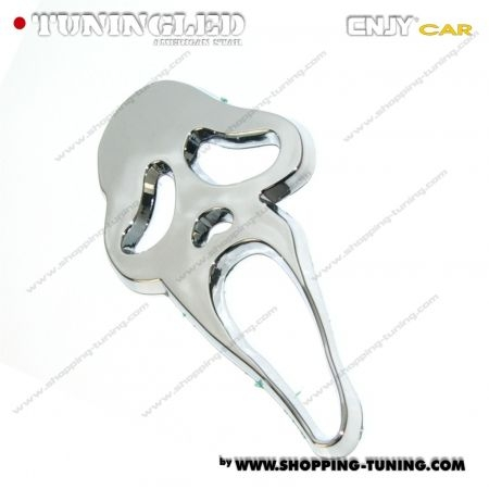 EMBLEME SCREAM 3D CARROSSERIE AUTO ADHESIF CHROME PLASTIQUE ABS HAUTE RESISTANCE