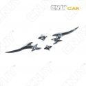 EMBLEME TRIBAL 4Pcs 3D CARROSSERIE AUTO ADHESIF CHROME PLASTIQUE ABS HAUTE RESISTANCE
