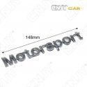 EMBLEME MOTOR SPORT 3D CARROSSERIE AUTO ADHESIF CHROME PLASTIQUE ABS HAUTE RESISTANCE