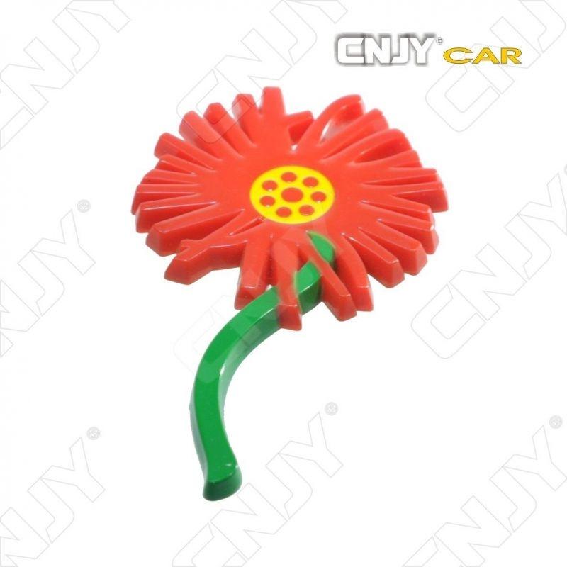 EMBLEME FLOWER 3D CARROSSERIE AUTO ADHESIF CHROME PLASTIQUE ABS HAUTE RESISTANCE