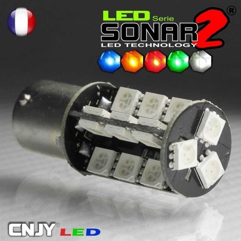 1 AMPOULE 25W LED CREE LENS BA15S CULOT COMPATIBLE R5W R10W P21W 1156