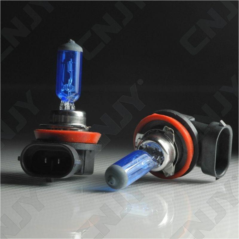 2 AMPOULES H11 PGJ19-2 PLASMA 5000K -55W BLUE EFFECT - 2100LM