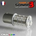 1 AMPOULE SONAR2 27 LED SMD 5050 ANTI ERREUR BA15S CULOT COMPATIBLE R5W R10W P21W 1156 CANBUS ODB