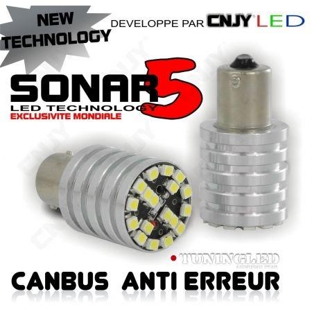 1 AMPOULE SONAR 5 18 LED SMD HP ANTI ERREUR BA15S