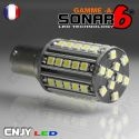 1 AMPOULE SONAR6-A 50 LED SMD HP ANTI ERREUR BA15S CULOT COMPATIBLE R5W R10W P21W 1156 CANBUS ODB