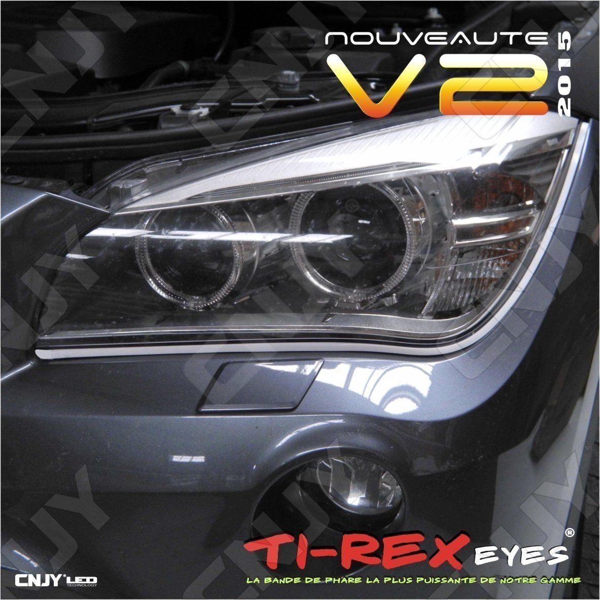 bande,TIREX,TI-REX,V2,led,feux,jour,diurne,phare,drl,souple,module,auto,moto,daylight,12v,diurne,style,audi,a5,5000k