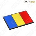 EMBLEME LOGO 3D ADHESIF DRAPEAU ROUMANIE ROUMAIN ROMANIA FLAG AUTO ADHESIF CHROME BADGE PLASTIQUE ABS HAUTE RESISTANCE