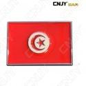 EMBLEME LOGO 3D ADHESIF DRAPEAU TUNISIEN TUNISIE TUNIS FLAG AUTO ADHESIF CHROME BADGE PLASTIQUE ABS HAUTE RESISTANCE