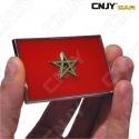EMBLEME LOGO 3D ADHESIF DRAPEAU MAROC MAROCCO MAROCAIN FLAG AUTO ADHESIF CHROME BADGE PLASTIQUE ABS HAUTE RESISTANCE