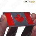 EMBLEME LOGO 3D ADHESIF DRAPEAU CANADIEN CANADA FLAG AUTO ADHESIF CHROME BADGE PLASTIQUE ABS HAUTE RESISTANCE
