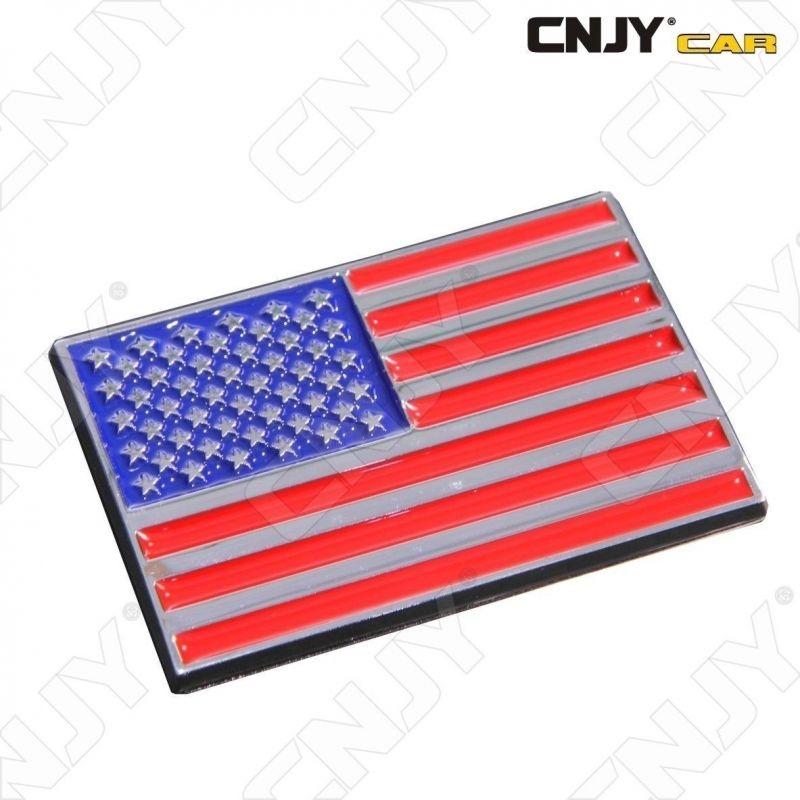 EMBLEME LOGO 3D ADHESIF DRAPEAU AMERICAIN AMERIQUE USA FLAG AUTO ADHESIF CHROME BADGE PLASTIQUE ABS HAUTE RESISTANCE