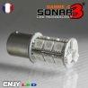 1 AMPOULE SONAR3 18 LED ANTI ERREUR BAU15S CULOT COMPATIBLE RY5W RY10W PY21W 1056
