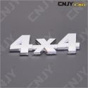 EMBLEME LOGO 3D ADHESIF 4X4 TOUT TERRAIN JEEP DESIGN SPORT MOTO AUTO ADHESIF CHROME BADGE PLASTIQUE ABS HAUTE RESISTANCE