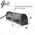 FEUX DE TRAVAIL PHARE LED GZER DOT785 40w CREE XTB 12/24V DC