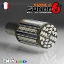 1 AMPOULE SONAR6-C 96 LED ANTI ERREUR BAU15S CULOT COMPATIBLE RY5W RY10W PY21W 1056