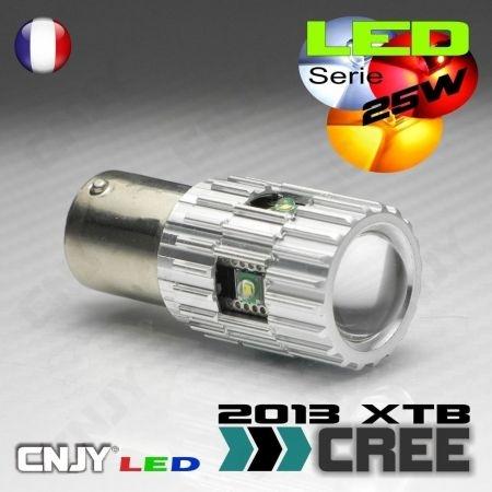 1 AMPOULE LED CREE 25W BAU15S CULOT COMPATIBLE RY5W RY10W PY21W 1056