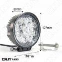 FEUX DE TRAVAIL CNJY LED 27W ROND WORKING LIGHT IP67 CAMION BATEAU 4x4 12 24V