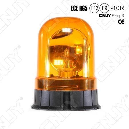 Gyrophare rotatif halogène orange 55w V1 câblé pose en applique ECE R65