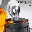 Gyrophare rotatif halogène orange 55w V1 câblé pose en applique 12V