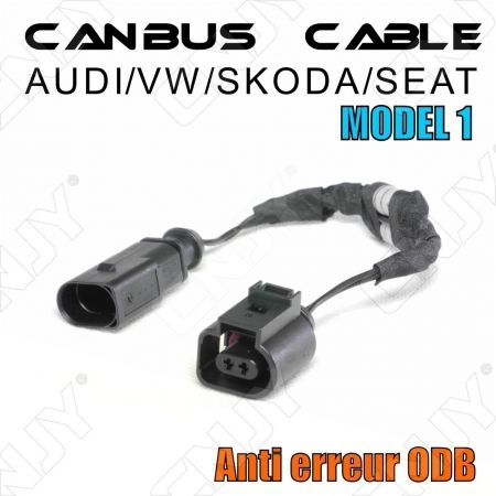 1 CABLE ANTI ERREUR PLUG & PLAY CANBUS ERROR FREE ODB AUDI/SEAT/SKODA/VW MODEL 1