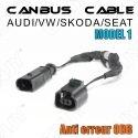 1 CABLE ANTI ERREUR PLUG & PLAY CANBUS ERROR FREE ODB AUDI/SEAT/SKODA/VW MODEL 1