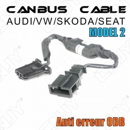 1 CABLE ANTI ERREUR PLUG & PLAY CANBUS ERROR FREE ODB AUDI/SEAT/SKODA/VW MODEL 2