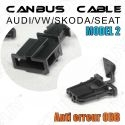 1 CABLE ANTI ERREUR PLUG & PLAY CANBUS ERROR FREE ODB AUDI/SEAT/SKODA/VW MODEL 2