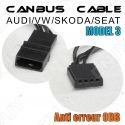 1 CABLE ANTI ERREUR PLUG & PLAY CANBUS ERROR FREE ODB AUDI/SEAT/SKODA/VW MODEL 3