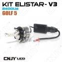 KIT DE CONVERSION ELISTAR V3 2 AMPOULES H7 LED AVEC ADAPTATEUR VW GOLF 5 - 2400LM POUR FEUX DE CROISEMENT