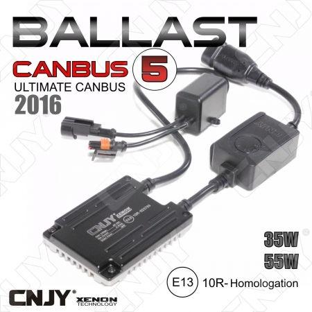 1 BALLAST SLIM 35W-55W CNJY CANBUS 5 -2016 BALLAST DE CONVERSION HID UNIVERSEL ULTIMATE CANBUS COMPATIBLE