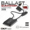 1 BALLAST SLIM CNJY 35W-55W QUICK START V2 2016 - TECHNOLOGIE ALLUMAGE INSTANTANE RAPIDE POUR FEUX DE VIRAGE & FEUX DE ROUTE