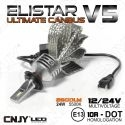 KIT DE CONVERSION LED H7-PX26D ELISTAR V5 H8/9/10/11-HB3/4-AMPOULE NON VENTILEE 24W ULTIMATE CANBUS ODB AUTO MOTO CAMION 12V-24V
