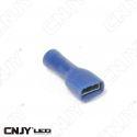 COSSE PLATE ISOLEE A SERTIR FEMELLE DE 6.3MM DE LARGE POUR CABLE DE 0.75mm² à 2.5mm²