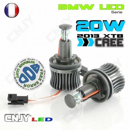 KIT ANGEL EYES CREE LED MARKER 20W XTB H8 BMW ANTI ERREUR