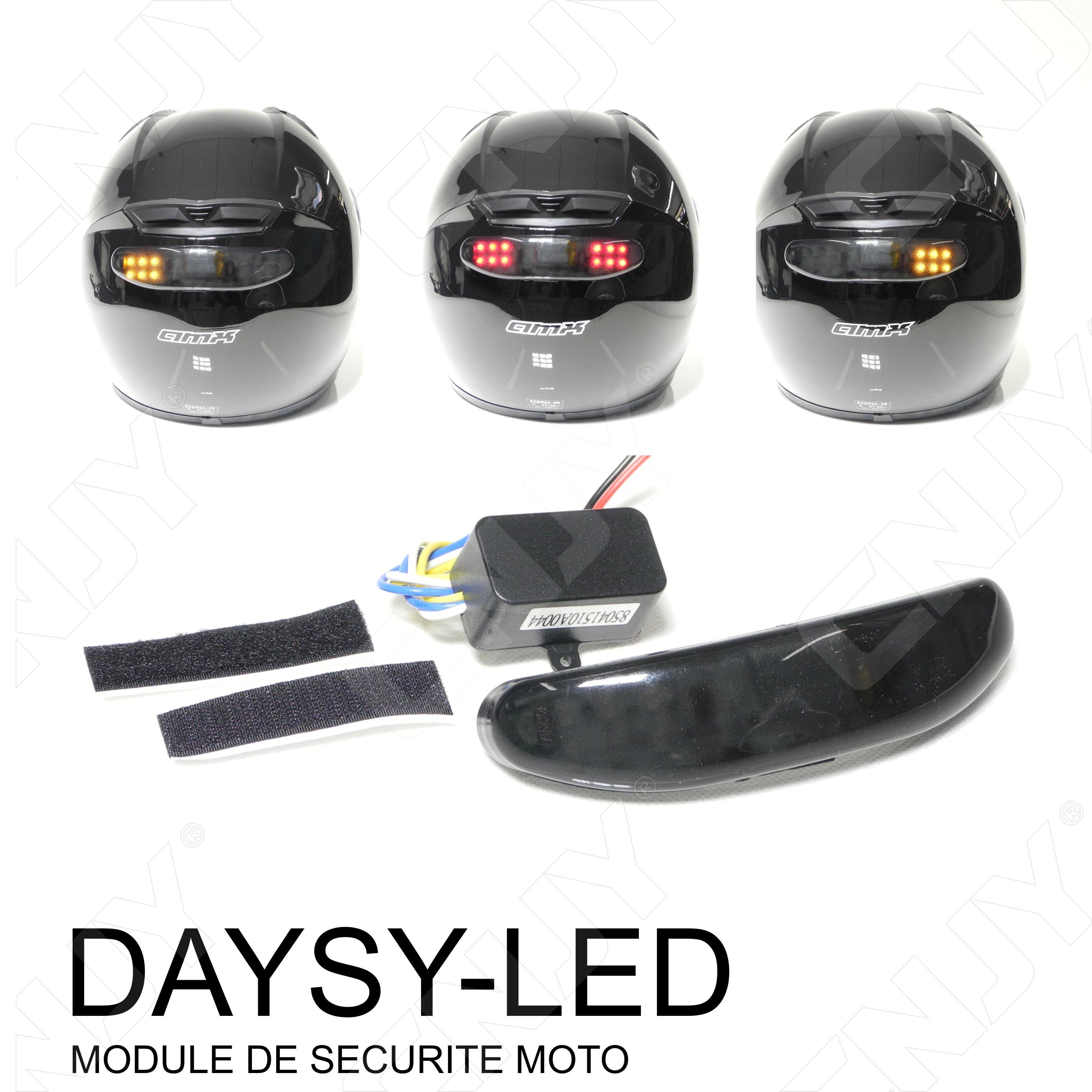 Casque moto led