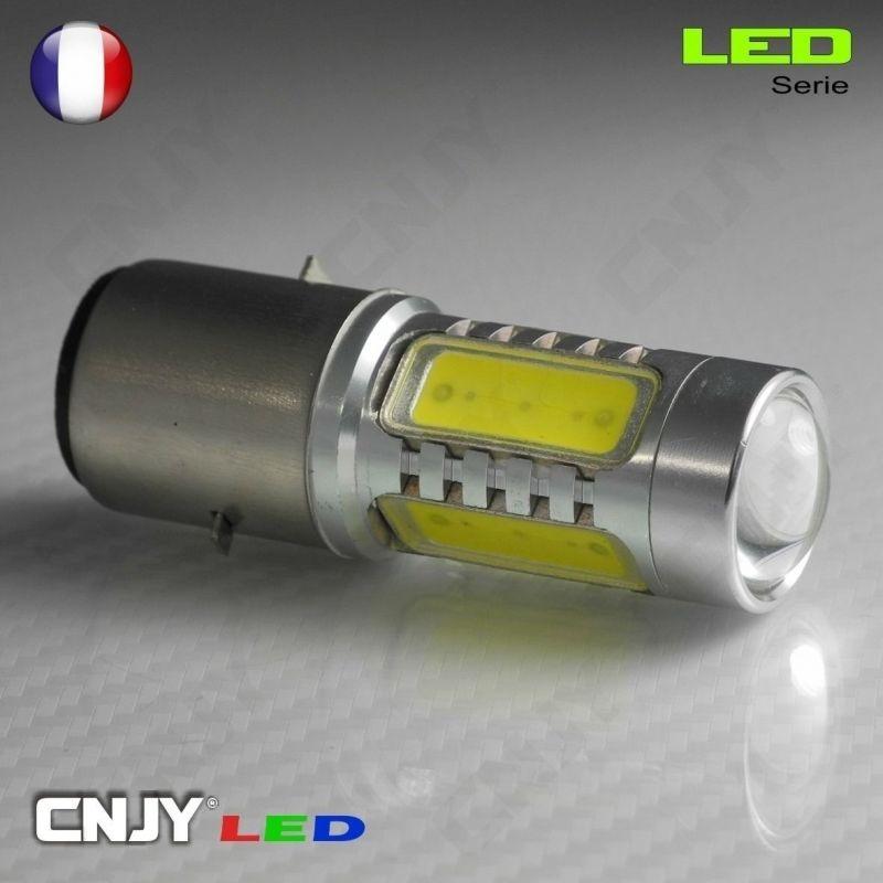 1 AMPOULE LED HLU 8W -FEUX MOTO- CULOT COMPATIBLE H6M