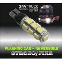 1 AMPOULE T10 W5W FLICK/FLACK STROBO REVERSIBLE PACE CAR VEILLEUSE LED 24v CAMION TRUCK