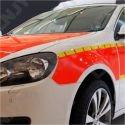 1 ROULEAU 15M x 90x30mm BANDE DE SIGNALISATION ADHESIVE SEGMENTE MARQUAGE POUR AUTO MOTO CAMION JAUNE REFLEXITE