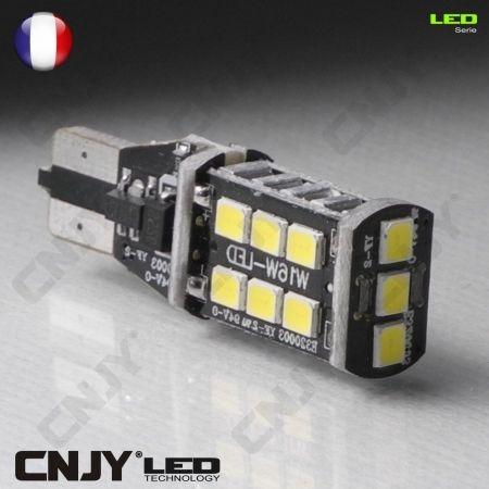 1 AMPOULE LED T15 W16W -CANBUS CORE4- ANTI ERREUR ODB PUISSANTE POUR FEUX DE RECUL STOP VEILLEUSE. AUDI A1 A4 BMW MERCEDES