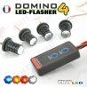 KIT DOMINO FLASHER 4 LED 1W FLASHING CAR PHARE VEILLEUSE STROBO PACE FLASH 12V