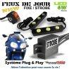 KIT FEUX DE DETRESSE & PENETRATION DE JOUR MOTO STROBO FLASH GYROPHARE DRIVEBACK INTERRUPTEUR