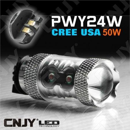 1 AMPOULES LED PWY24W 50W CREE ORANGE ANTI ERREUR ODB CANBUS POUR CLIGNOTANT VW GOLF 7 PASSAT CC