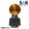 Feu autonome de signalisation routière led orange SAR magnétique et rechargeable