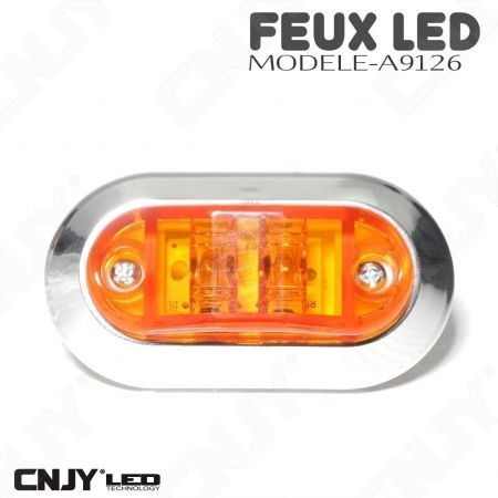 Feu de gabarit ovale à led orange A9126 12/24V
