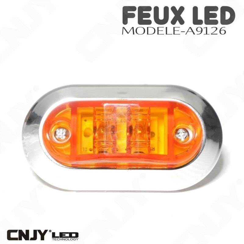 Feu de gabarit ovale à led orange A9126 12/24V