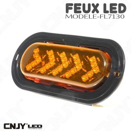 Feu en forme de flèche à led directionnel orange 12V 24v