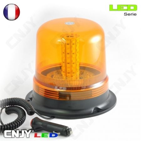 Gyrophare led orange à dôme magnétique 8W