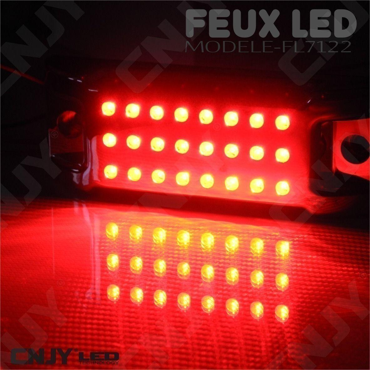 feux,stop,position,a,led,rouge,orange,12v,24v,etanche,ip68,pour,auto,moto,quad,camion,remorque,CHOPPER,MOTARD